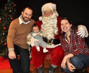 Josiah's first Santa encounter! December 2012.